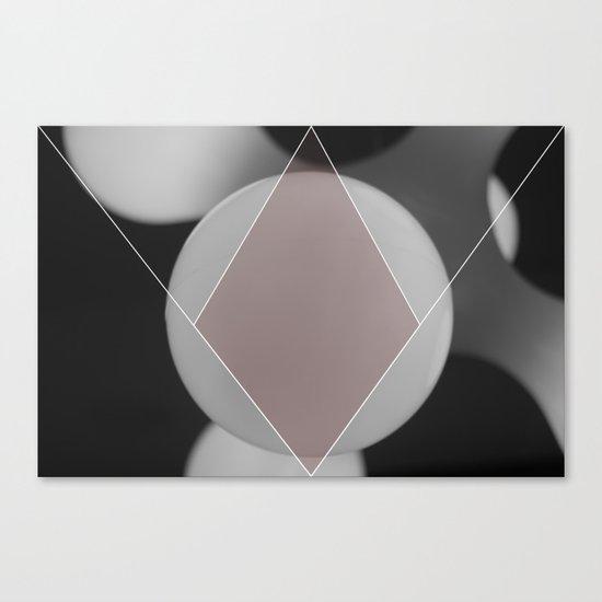 COLOUR DIAMONDS B&W (RED) Canvas Print