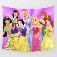 princess Wall Tapestries featuring Princess by Luxe Glam Decor