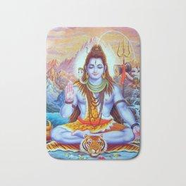 Lord Shiva Hindu Religion God Orient Spiritual Yoga Meditation Bath Mat