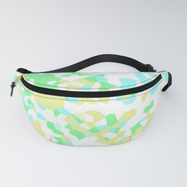 Blue, Yellow, and Green Mosaic Fanny Pack