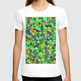 Cute colorful green mosaic T-shirt