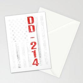 DD-214 US Alumni American Flag Vintage T-Shirt Stationery Cards
