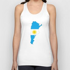 Argentina flag map Unisex Tank Top