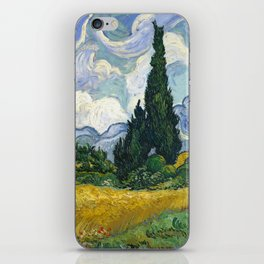 Van Gogh, Wheat Field with Cypresses, 1889 iPhone Skin