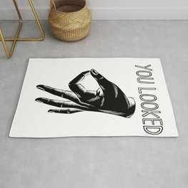 hole game clean looked circle game finger gift Rug