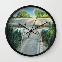 Bridge To Beach Wall Clock