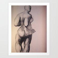 Degas Does Picaso Master Copy Art Print