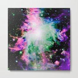 Cosmically Colorful Orion Nebula Metal Print