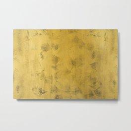 Gold wall texture Metal Print