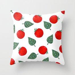 Tomato & Spinach Throw Pillow