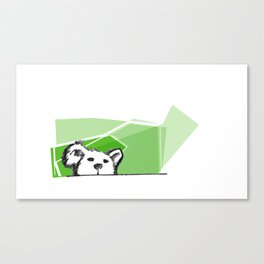 Is teddy bear. Hides. Canvas Print