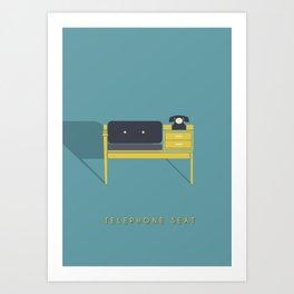 Telephone Seat Art Print