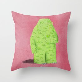 Green Monster Smoothie Time Throw Pillow