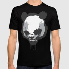 Dirty Angry Panda Black SMALL Mens Fitted Tee