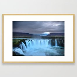 Goðafoss Waterfall in Iceland Framed Art Print