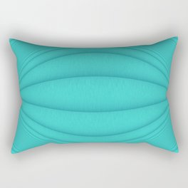 Brushed Aqua Contours Rectangular Pillow