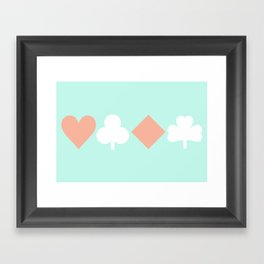 Turquoise & Coral (6) Framed Art Print