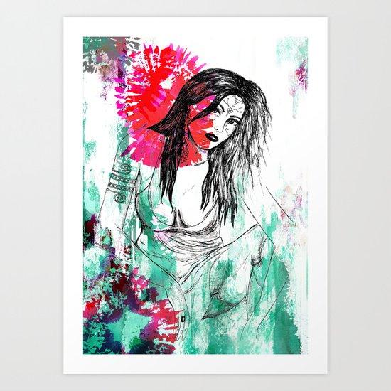Tribal Beauty 5 Art Print