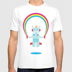 Skipping a Rainbow White 2X-LARGE Mens Fitted Tee