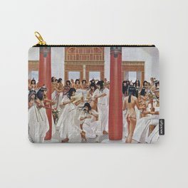 """Classical Masterpiece """"The Court of Pharaoh and the High Priestess"""" by H.M. Herget Carry-All Pouch"""