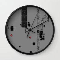dna Wall Clocks featuring Digital DNA by dBranes