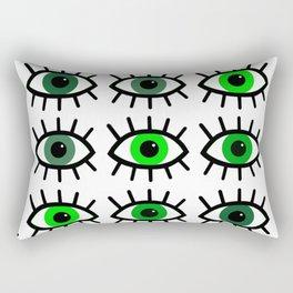 Open Your Eyes - Greens Rectangular Pillow