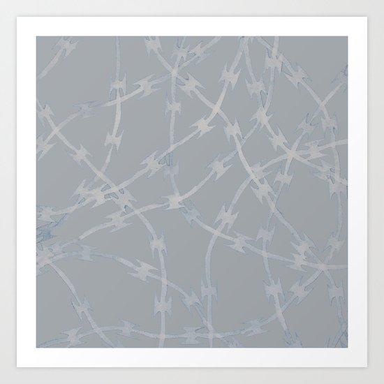 Trapped Grey Art Print