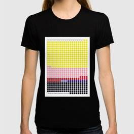 Girl with Hair Ribbon (Roy Lichtenstein) color-sorted T-shirt