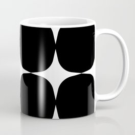 Retro '50s Shapes in Black and White Coffee Mug
