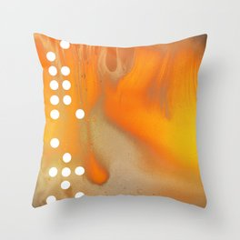 Orange Abstract Passion Throw Pillow
