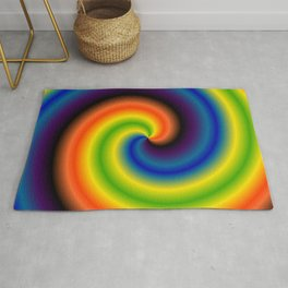 Gradient Bars Of Color Rug