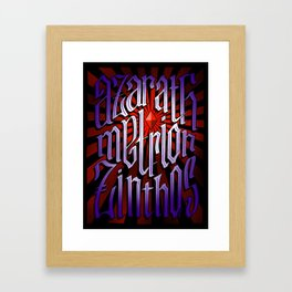 Azarath Metrion Zinthos Framed Art Print