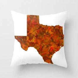 Texas State Map Art Design Throw Pillow