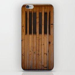Wood Slats Beach Door Costa Brava Spain iPhone Skin