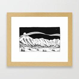 Bridger Mountain Range  Framed Art Print
