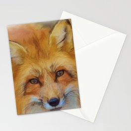 Painting Oil Painting Photo Painting Fuchs Red Fox Stationery Cards