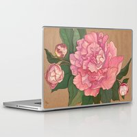 peonies Laptop & iPad Skins featuring Peonies by Sayada Ramdial