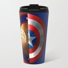 Wonder Woman/Captain America Travel Mug