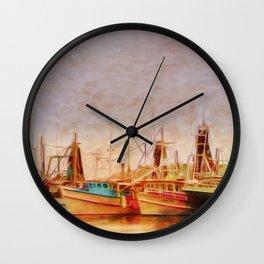 Coffs Harbour Fishing Trawlers Wall Clock