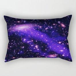 GAlaxy Purple Hot Pink Stars Rectangular Pillow