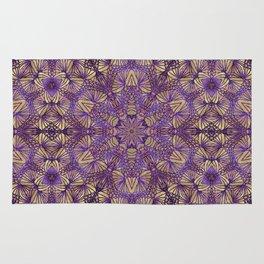 Purple Lace Pattern Rug