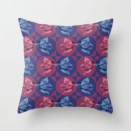 Bugambilia Texture Throw Pillow