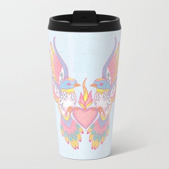 Lovebirds Metal Travel Mug