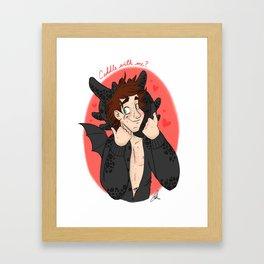 Cuddle Dragon Framed Art Print