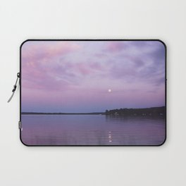 Full Moon Over The Crooked Lake Laptop Sleeve