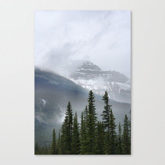 Misty Mountain Top Canvas Print