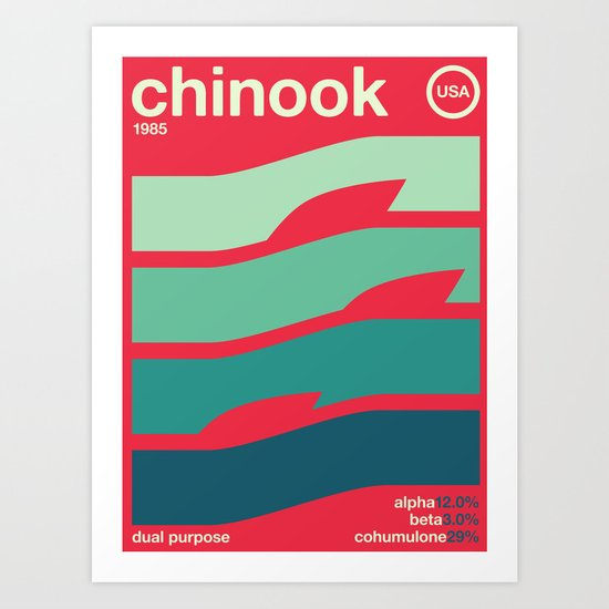 chinook//single hop Art Print