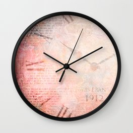 French Garden Abstract Art Wall Clock