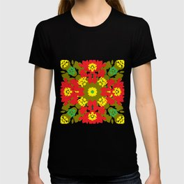 Colorful Leaves Mandala T-shirt