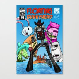 Floating BunnyHead #1 Cover Canvas Print
